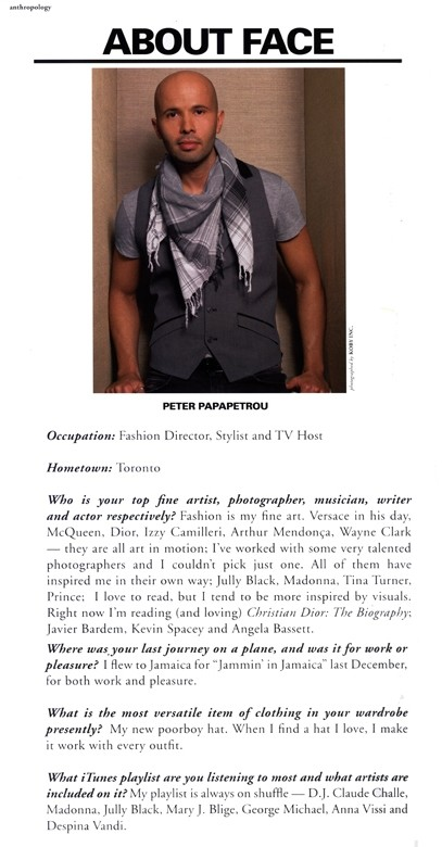 PETER PAPAPETROU - PRESS